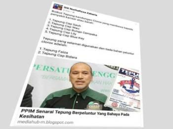 Makluman yang tersebar di media sosial Facebook.