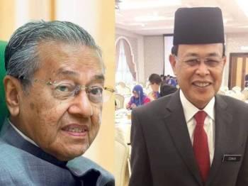 Tun Dr Mahathir Mohamad  dan  Osman Sapian.
