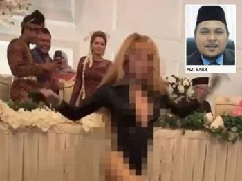 Klip video yang tular memaparkan persembahan seorang penari seksi dalam sebuah perkahwinan seorang anak selebriti semalam.