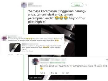 Paparan Twitter Azrul Akmal tular di media sosial.
