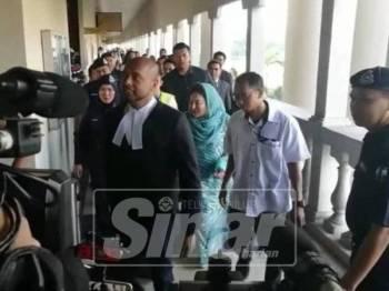 Rosmah tiba di Mahkamah Sesyen Kuala Lumpur, hari ini bagi menghadapi pertuduhan baharu kes penyelewengan pemasangan panel tenaga solar di sekolah-sekolah di Sarawak.