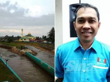 Keadaan bekalan pengairan air mentah dari empangan Kolam Bukit Merah ke dua terusan bagi tujuan domestik dan pertanian. - Foto: Abdul Yunus Jamhari