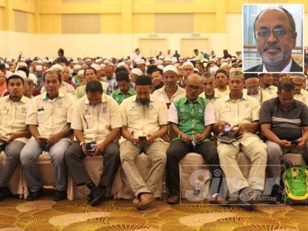 Lebih 1000 pengerusi dan setiausaha MPPK Terengganu hadir Kursus Induksi MPKK peringkat negeri di TH Hotel & Convention Centre di sini hari ini. - Gambar kecil: R Sivarasa