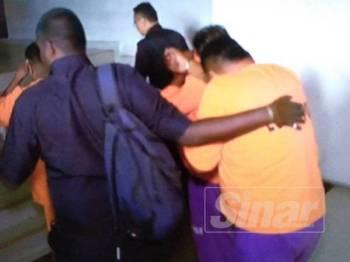 Tiga lelaki yang dipercayai mengganggu anggota polis menjalankan tugas semasa PRK DUN Rantau Sabtu lepas direman selama tiga hari bermula hari ini.