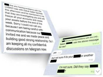 Sebahagian komunikasi sindiket penipuan yang menggunakan nama CEO LHDN bagi menakutkan orang ramai bahawa mereka mempunyai isu pematuhan cukai yang perlu diselesaikan.
