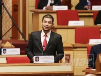 Hasnul Zulkarnain ketika menjawab soalan tambahan pada Persidangan Dewan Negeri Perak, hari ini.