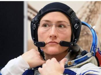 Christina Koch bakal tinggal di ISS sehingga Februari 2020. - Foto AFP