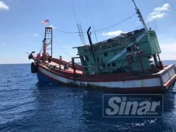Bot nelayan Vietnam yang ditahan.