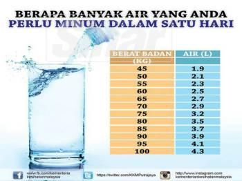 Pengambilan air mengikut berat badan (KKM)