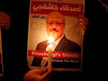 Khashoggi yang lantang mengkritik kerajaan Saudi dibunuh dalam bangunan kedutaan Arab Saudi di Istanbul pada 2 Oktober lalu.