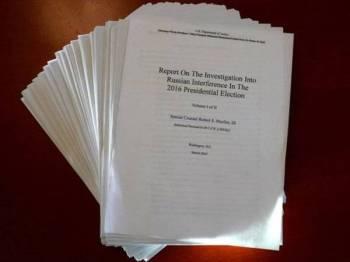 Laporan siasatan terhadap campur tangan Rusia dalam pilihan raya 2016 dikeluarkan pada Khamis lalu.