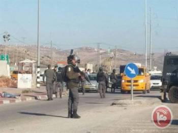 Tentera Israel tiba di pos pemeriksaan Zaatara.