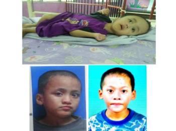 Gambar atas: Ehsan. Gambar bawah: Muhammad Ammar (kiri) Hussin