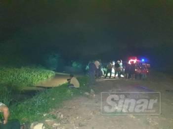 Pasukan SAR masih mencari dua pelajar tahfiz yang lemas petang tadi.