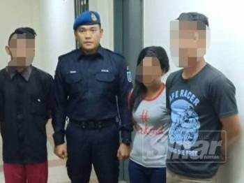 Tiga warga Indonesia ditahan PPM menerusi Ops Pensura di Jeti Penumpang Pelabuhan Klang, semalam.