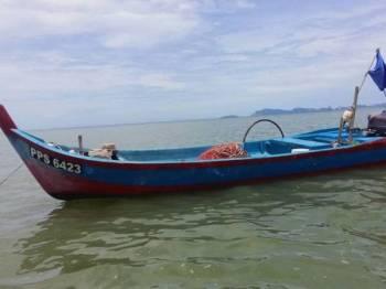 Bot mangsa ditemui di muara Sungai Semilang pagi tadi.