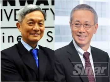 Dr Yeah Kim Leng (kiri) dan Dr Gan Wee Beng