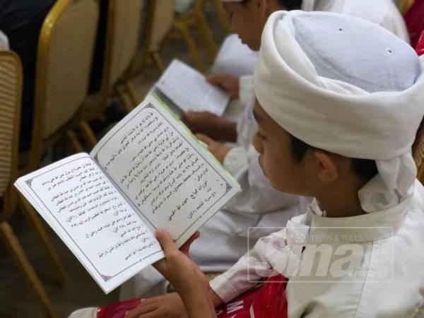 Antara pelajar tahfiz yang hadir pada Majlis UNIRAZAK #QuranHour di UNIRAZAK Kuala Lumpur.