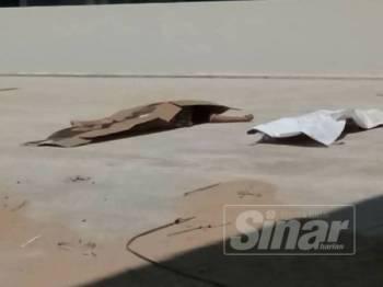 Mayat mangsa ditemui mati di tingkat tiga sebuah bangunan 19 tingkat yang masih dalam pembinaan.