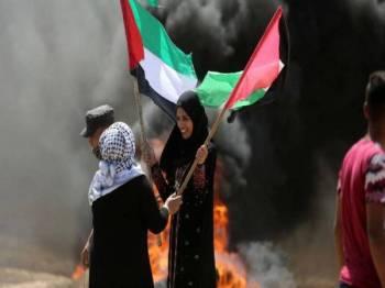 Rakyat Palestin hanya mahu bebas dari cengkaman Israel. - Foto Getty Images