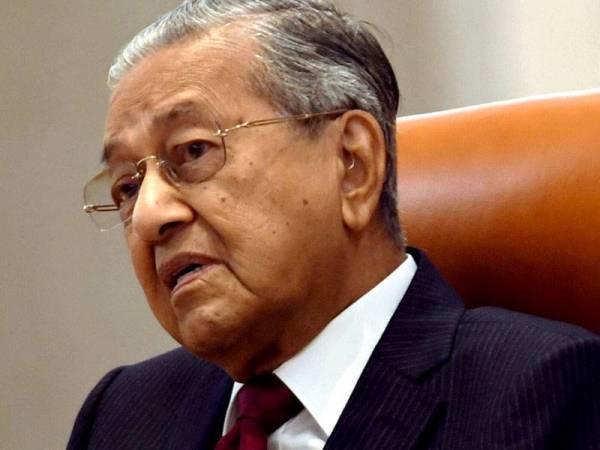 Perdana Menteri yang juga Pengerusi Pakatan Harapan (PH) Tun Dr Mahathir Mohamad pada sidang media khas sempena setahun pemerintahan kerajaan PH di Bangunan Perdana Putra baru-baru ini. - Foto Bernama
