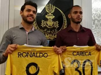 Ronaldo (kiri) dan Careca, dua import baharu Perak.