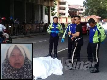 Wanita warga emas maut dirempuh motosikal dinaiki dua lelaki ketika melintas jalan di Jalan Sentul Pasar.