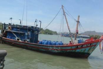 Bot yang dilaporkan hilang dikesan karam sekitar lokasi kejadian.