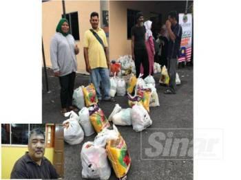 Penerima bantuan keperluan makanan di Program Iftar Nelayan Kuala Langat bersama Al-I'tisam di Jeti Kampung Kelanang, Banting semalam. Gambar kecil, Mohd Jaman.