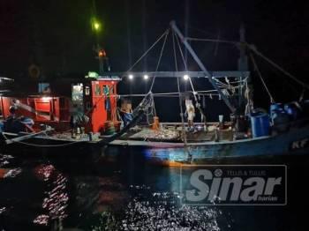 Bot nelayan kelas C yang ditahan APMM.