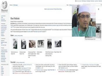Info dan  sejarah Nakbah yang menimpa rakyat Palestin pada tarikh hari ini, 71 tahun lalu dalam Wikipedia. (Gambar kecil:Nurul Amin Hamid)