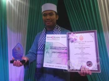 Mohd Juwaidi merangkul johan tilawah al-Quran buat kali pertama.
