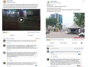 Tapak Bazar Ramadan Jalan Hang Tuah.