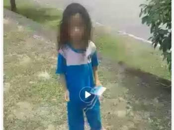 Video berdurasi 7minit 32 saat mengenai seorang kanak-kanak perempuan yang berkeliaran di Puncak Alam tular dalam media sosial.