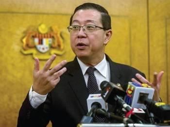 Lim Guan Eng -Foto Bernama
