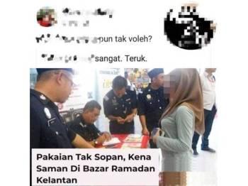 Jaheaik memaklumkan gambar operasi penguat kuasa mengeluarkan notis kepada seorang wanita sehingga tular di laman sosial, merupakan gambar lama.