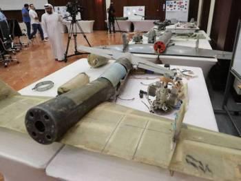 Dron yang digunakan Houthi dalam serangan sebelum ini.