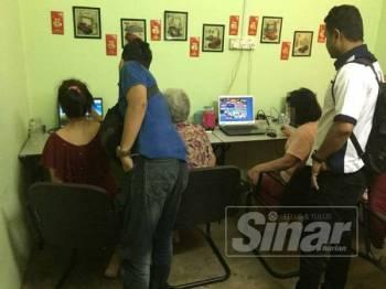 Aktiviti perjudian atas talian dikesan beroperasi dari rumah kediaman berkenaan.