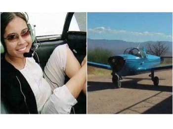 Jessica Cox yang dilahirkan tanpa tangan belajar menerbangkan pesawat dengan hanya menggunakan kakinya.