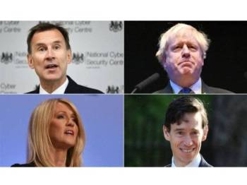 Jeremy Hunt, Boris Johnson, Rory Stewart dan Esther McVey mengesahkan hasrat untuk bertanding jawatan Perdana Menteri Britain.