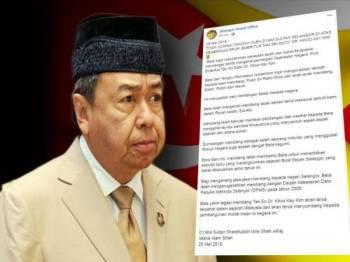 Sultan Selangor menzahirkan rasa dukacita baginda atas pemergian Kay Kim yang meninggal dunia akibat jangkitan paru-paru di PPUM pagi tadi.