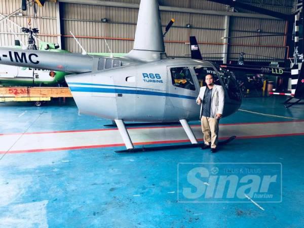 Hazmi menyediakan perkhidmatan helikopter bagi mereka yang mahu pulang beraya tanpa kesesakan lalu lintas.