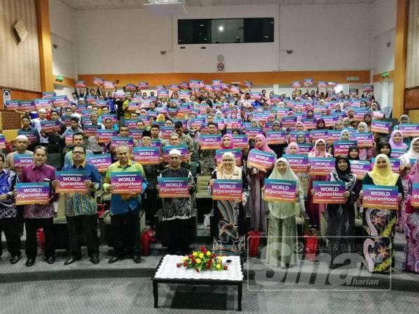 Antara peserta yang mengambil bahagian dalam Program World #QuranHour yang diadakan serentak hari ini do PPAT.
