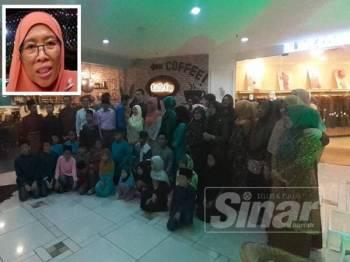 Majlis berbuka puasa ini diadakan untuk meraikan anak-anak yatim ini bertempat di Shah Alam Convention City (SACC) Mall di sini semalam. (Gambar kecil: Siti Zubaidah)