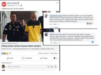 Berita mengenai abang botak yang mendapat perhatian netizen.