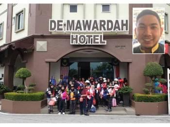 Sebahagian tetamu yang menginap di hotel bajet milik Akram. (Gambar kecil: Muhammad Akram)