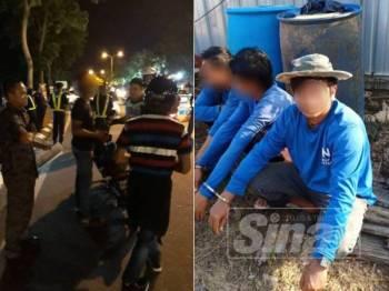 Antara warga asing yang ditahan dengan kerjasama JPJ dan beberapa agensi kerajaan yang lain.