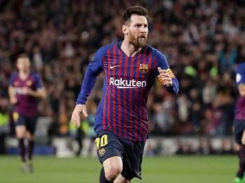 Lionel Messi dari Barcelona muncul atlet termahal di dunia bagi 2019 berdasarkan senarai majalah Forbes. - Foto AP