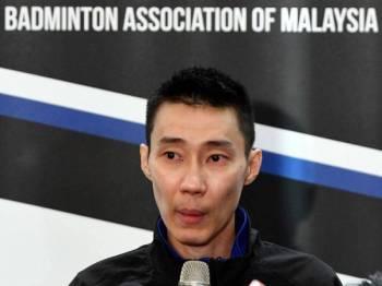Chong Wei dilantik sebagai CDM Olimpik Tokyo 2020 pada sidang media berita persaraannya dari sukan badminton sebentar tadi. - Foto Bernama