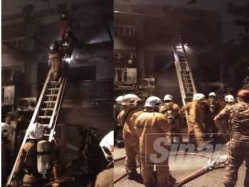 Kebakaran di sebuah rumah yang mengorbankan tiga beranak awal pagi tadi.